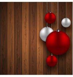 Modern red christmas balls background vector