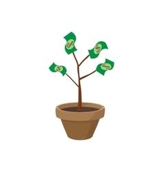 Money tree icon cartoon style vector image vector image