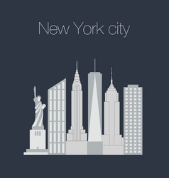 new york famous icons vector image