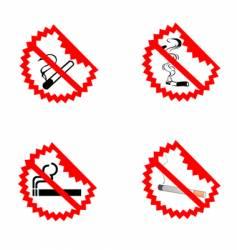 No smoking symbols vector