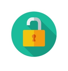 Opened lock icon vector