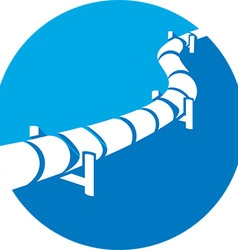 Pipe Line Icon vector image
