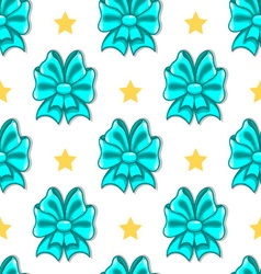 Seamless pattern cute cartoon bows-2 vector image vector image