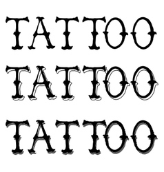 Tattoo doodle letters vector