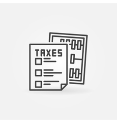Taxes concept icon vector