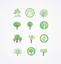 Tree bundle logo vector image