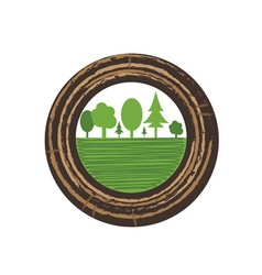 Tree growth rings vector