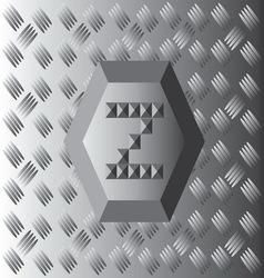 Z text aluminium wallpaper vector