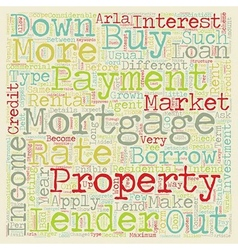 Buy to let mortgages long term investment on the vector