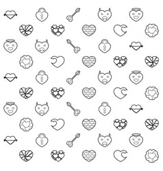 Heart and love pattern vector