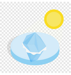 melting iceberg isometric icon vector image