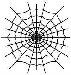 Black spiderweb isolated vector