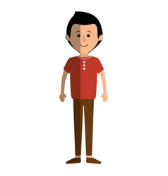 Young father avatar character vector