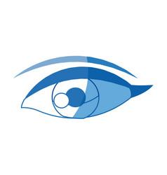 Female eye optic cartoon icon vector
