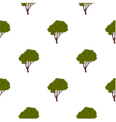 Tree with fluffy crown pattern flat vector
