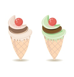 ice cream cone1 vector image