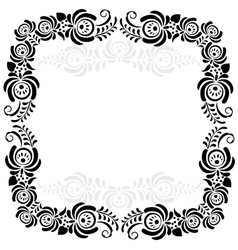 Black and white vintage frame vector