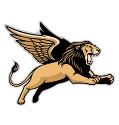 Flying winged lion vector