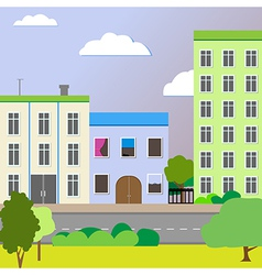 Sleek design a city street vector