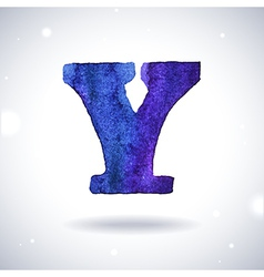 Watercolor letter y vector