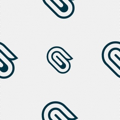 Paper clip icon sign seamless pattern with vector