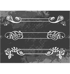 Floral borders set vector