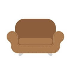 Brown Leather armchair over the white vector image