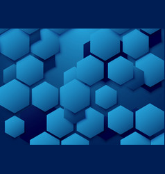 Abstract blue hexagon background vector