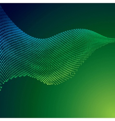 abstract green halftone background vector image vector image