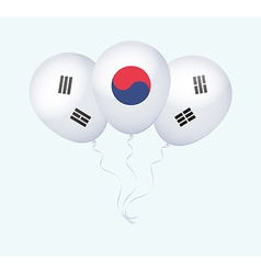 Balloons in as south korea national flag vector