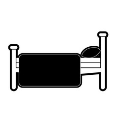 Bed sideview icon image vector