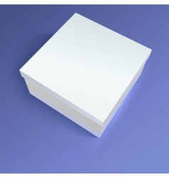 Close up carton box on colored background vector