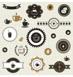 Coffee label2 vector image vector image