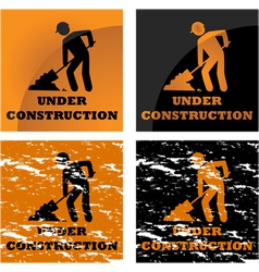 Construction signs vector image vector image