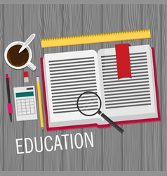 Education flat design concept for design vector