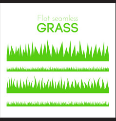 flat grass set isolated on white background vector image vector image