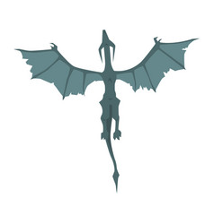 Flying dragon wyvern mythical and fantastic vector