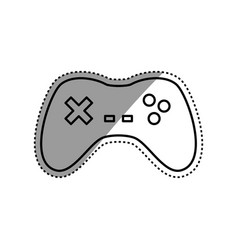 Gamepad device isolated vector