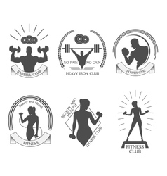Icons fitness club vector