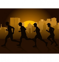 jogging in city vector image vector image