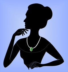 Lady in the necklace vector image vector image
