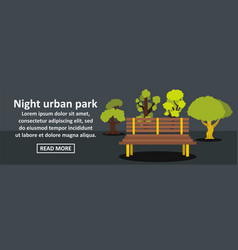 night urban park banner horizontal concept vector image vector image