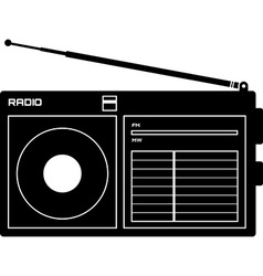 Radio receiver icon vector
