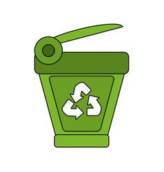 Recycle bin icon image vector