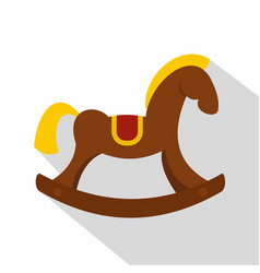 Toy horse icon flat style vector