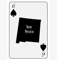 usa playing card 6 spades vector image vector image
