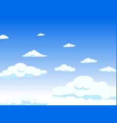 view from the window to the sky the clouds long vector image vector image