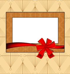 vintage photo frame vector image