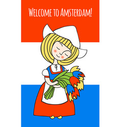 Welcome to amsterdam vector