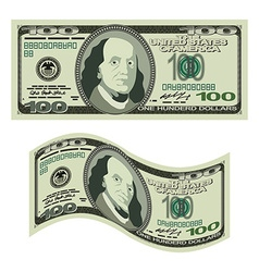 100 dollars on white background Money isolated US vector image